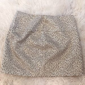 Express gold metallic skirt